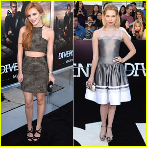 Bella Thorne & Claudia Lee: 'Divergent' Premiere Pair