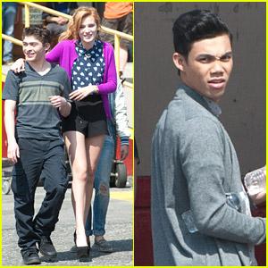 Bella Thorne: On Set with Ryan Ochoa & Roshon Fegan!