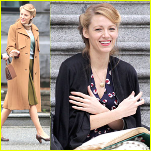 Blake Lively Takes Up Light Reading for 'Age of Adaline'