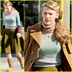 Blake Lively is a Retro Beauty as She Starts Filming 'Age of Adaline' in Vancouver