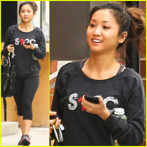 Brenda Song Supports 'Stand Up to Cancer' On Her Way to the Gym!