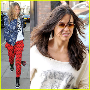 Cara Delevingne & Michelle Rodriguez Continue Spending Time Together in London!