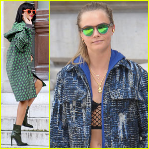Cara Delevingne: Stella McCartney Fashion Show with Rihanna!