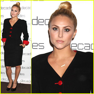 Cassie Scerbo Rocks High Bun at Les Must De Moschino Event