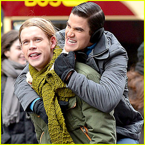 Chord Overstreet Gives Darren Criss a Piggyback Ride, Gets Arrested in Times Square?