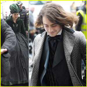 Daniel Radcliffe & Jessica Brown-Findlay: Period Costumes for 'Frankenstein' Filming