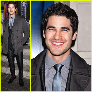 Darren Criss Supports Idina Menzel at 'If/Then' Broadway Opening Night