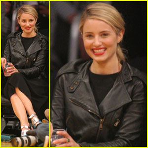Dianna Agron Sits Courtside at Lakers Game After 'Glee' 100th Episode