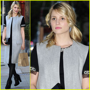 Dianna Agron Signs 'Glee' Sweater For Charity!