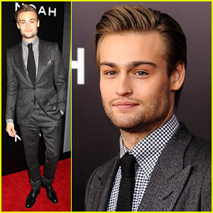 Douglas Booth Looks Super Suave at 'Noah' Premiere!