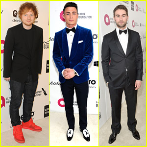 Ed Sheeran: EJAF Oscars 2014 Party with Colton Haynes & Chace Crawford