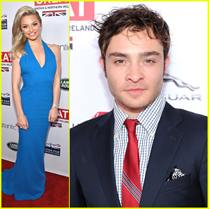 Emma Rigby & Ed Westwick: GREAT British Oscar Reception 2014
