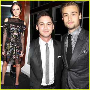 Emma Watson Celebrates 'Noah' with Douglas Booth & Logan Lerman