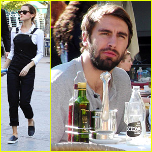 Emma Watson Enjoys Madrid Lunch with Matthew Janney