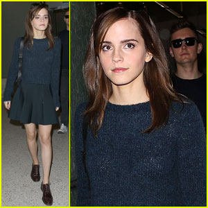 Emma Watson Makes Stylish Return to L.A. Ahead of 'Noah' Premiere