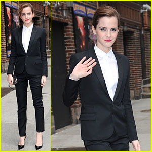 Emma Watson Suits Up for 'Late Show with David Letterman'!