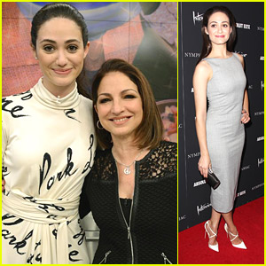 Emmy Rossum Gets Her 'Chew' On with Gloria Estefan