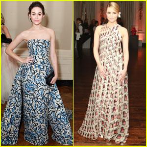 Emmy Rossum & Dianna Agron: 'White Glove Gone Wild' Gala Girls
