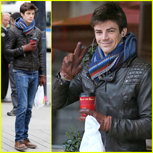 Grant Gustin Can Rock a Scarf Better Than Anyone