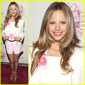 Pretty in Pink! Halston Sage Attends Get In Touch Foundation's Women of Strength Awards