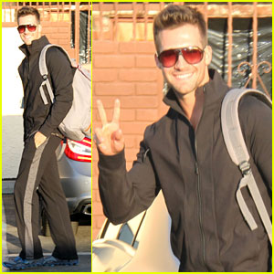 James Maslow: First 'Dancing with the Stars' Rehearsal Arrival Pics!