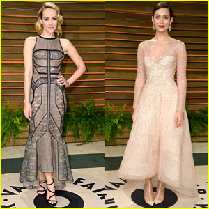 Jena Malone & Emmy Rossum: Vanity Fair Oscars 2014 Party