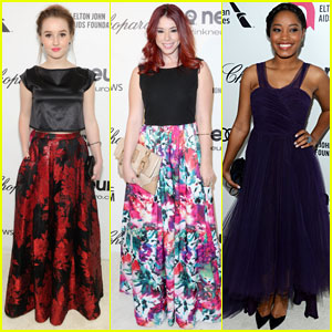 Kaitlyn Dever & Jillian Rose Reed: EJAF Oscars Party with Keke Palmer!