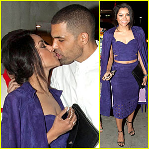 Kat Graham & Fiance Cottrell Guidry Lean In For a Kiss at Joyrich Event!