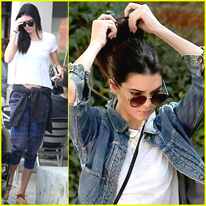 Kendall Jenner Stops By Salon, Dreams Of Own Shoe Line