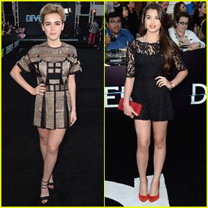 Kiernan Shipka: 'Divergent' Premiere with Paris Berelc!
