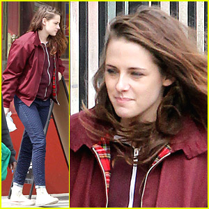 Kristen Stewart: Deep Side Part on 'Still Alice' Set