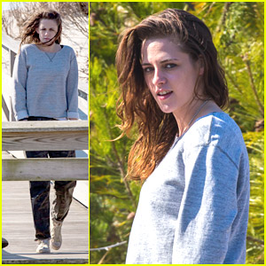 Things Are Getting Windy For Kristen Stewart on 'Still Alice' Set