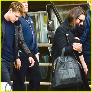 Lea Michele & Chord Overstreet Arrive in NYC Together!