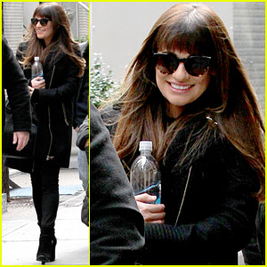Lea Michele is 'So Excited' to Be Back in NYC Filming 'Glee'