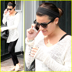Lea Michele: Spa Stop Before 'Louder' Grove Meet & Greet Tomorrow