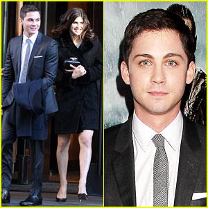 Logan Lerman: 'Noah' Premiere with Alexandra Daddario!