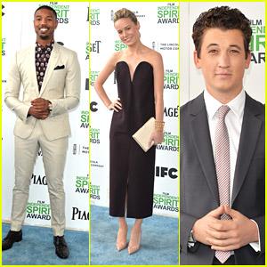 Michael B. Jordan & Miles Teller: Film Independent Spirit Awards 2014 with Brie Larson