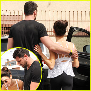 Meryl Davis & Maksim Chmerkovskiy Lunch at Il Pastaio Before DWTS Practice