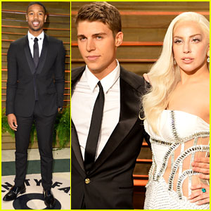 Michael B. Jordan: Vanity Fair Oscars Party with Nolan Gerard Funk & Lady Gaga!