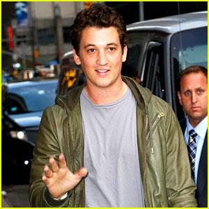 Miles Teller Talks 'Divergent' & 'Fantastic Four' on 'Letterman' - Watch Now!