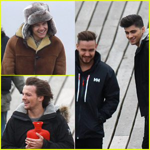 One Direction Take Over Clevedon Pier for Video Shoot