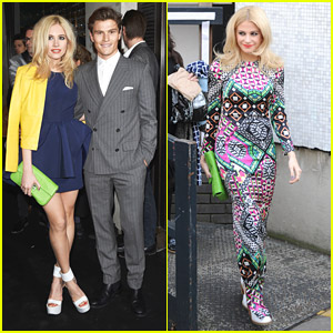 Pixie Lott: Fun & Wild Print Dress for 'Loose Women' Before Karl Lagerfeld's Flagship Opening