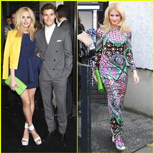 Pixie Lott: Fun & Wild Print Dress for 'Loose Women' Before Karl Lagerfeld's Flagship Opening