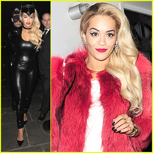 Meow! Rita Ora Dresses as Catwoman for Chloe Green's Launch After Party