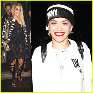 Rita Ora Wears DKNY For Rare at Drai's Dinner