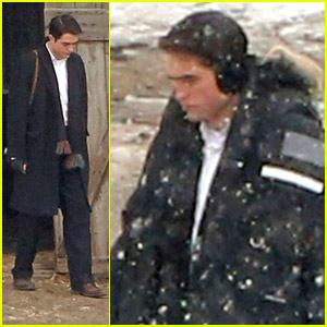 Robert Pattinson: Earmuffs on Snowy 'Life' Set