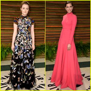 Saoirse Ronan & Allison Williams: Vanity Fair Oscars 2014 Party Goers