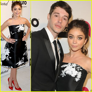 Sarah Hyland Attends EJAF Oscars Party with Boyfriend Matt Prokop!