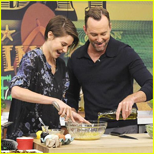 Shailene Woodley Gets Cookin' with Clinton Kelly on 'The Chew'