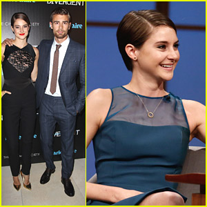 Shailene Woodley & Theo James Take 'Divergent' to NYC